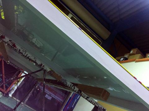 木枠看板の裏