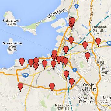 [更新] お客様の看板設置場所の地図を作成しました