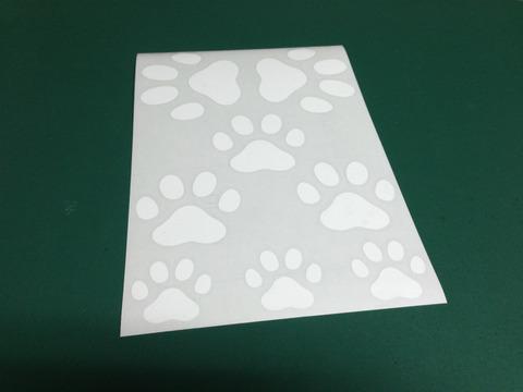 猫・犬の足跡ステッカーの製作