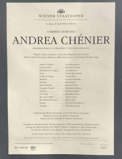 ウィーン国立歌劇場_アンドレアシェニエ_20180429