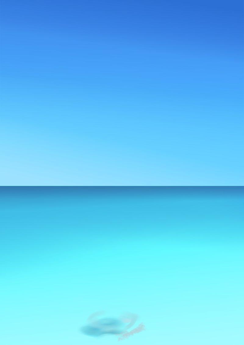 kritaで海で遊んでいるイラストを描いてみた。(背景編) : artus blog