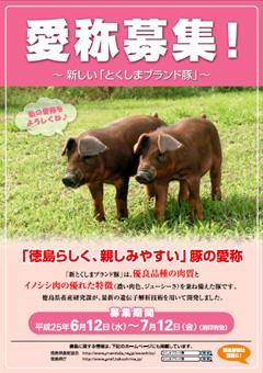 とくしまブランド豚 愛称募集