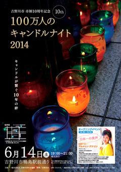 徳島県吉野川市 100万人のキャンドルナイト 2014