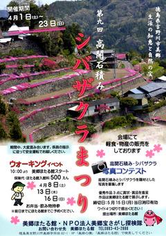 徳島県吉野川市美郷 第9回 高開石積み シバザクラまつり 2017