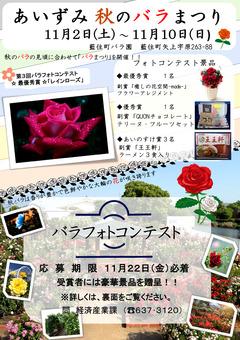 徳島県板野郡藍住町 あいずみ 秋のバラまつり 2019