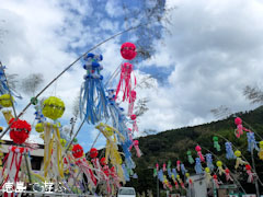 神山町 下分七夕飾り 2011