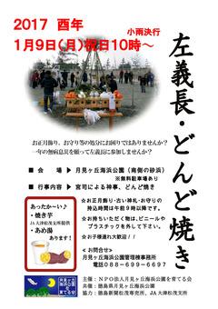 徳島県板野郡松茂町 月見ヶ丘海浜公園 左義長 どんど焼き 2017