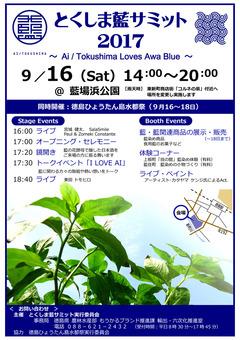 徳島県徳島市 徳島ひょうたん島水都祭 とくしま藍サミット 2017