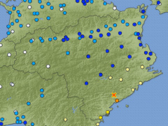 徳島県南部で震度5強を観測 2015年2月6日