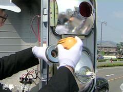 徳島県内 歩行者用信号機 LED電球