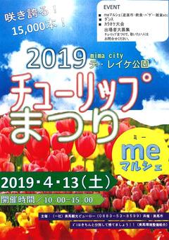 徳島県美馬市脇町 デ・レイケ公園 チューリップまつり 2019