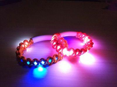 LED光るパラコード首輪