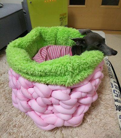 手編犬用ベッド1