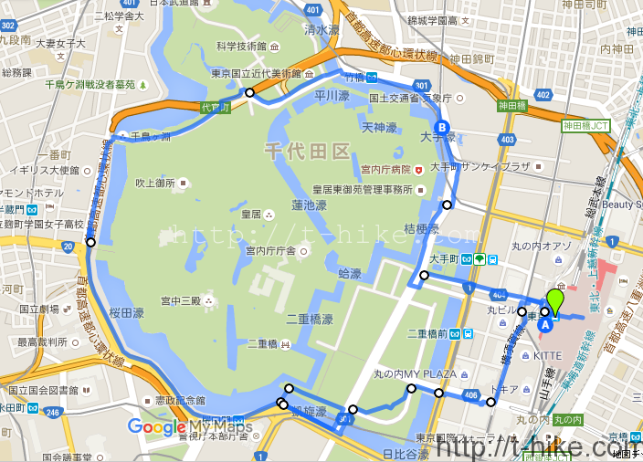 皇居ほぼ一周2016年5月上旬 早朝散歩