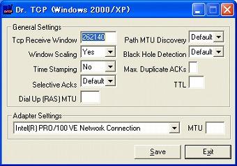 フリーソフト Dr.TCP