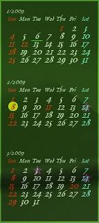 フリーソフト j-calendar
