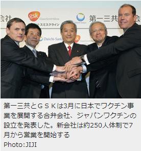 ジャパンワクチン1第一三共とGSK