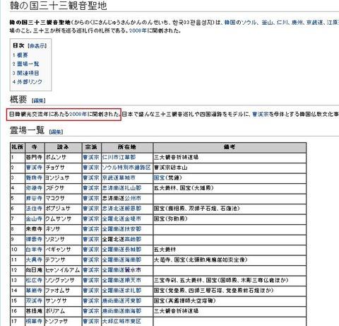 韓の国三十三観音聖地wiki