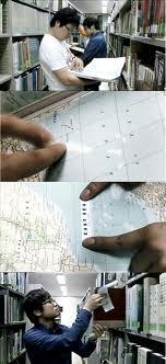図書館の地図にシール2