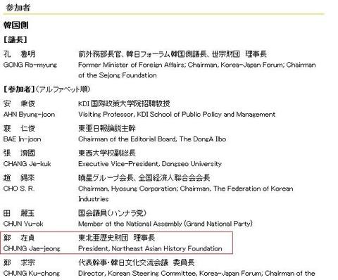 第17回日韓フォーラム北東亜歴史財団
