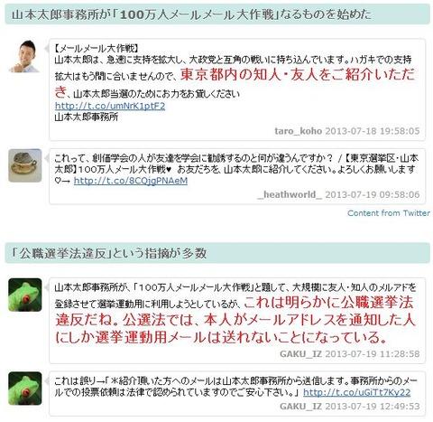 山本太郎100万人のメールtogetter