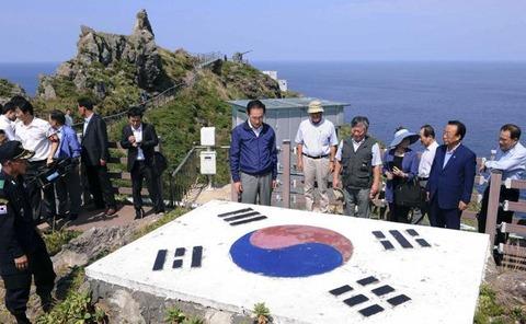 李明博大統領竹島訪問