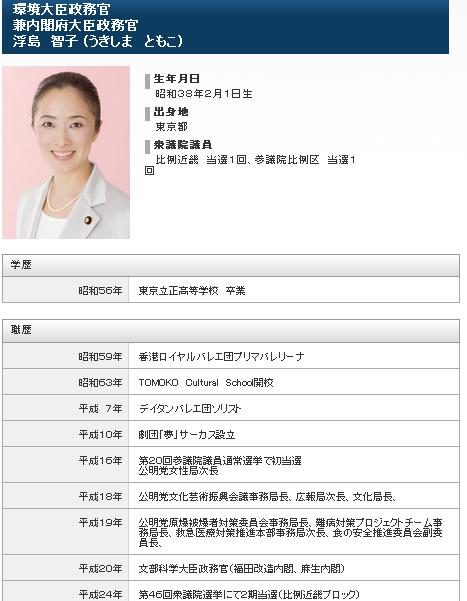 環境大臣政務官浮島智子