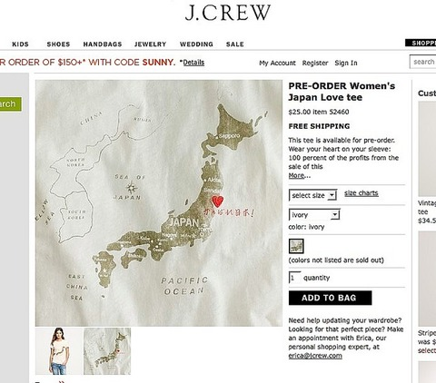 j-crew Tshirts