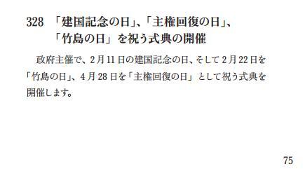 自民党政策集2012竹島の日