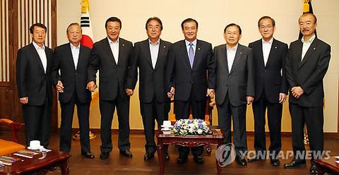 来韓の民団団長「右翼の活動が在日同胞の脅威に」