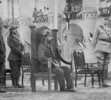 ファイサル王子イラク戴冠式1921
