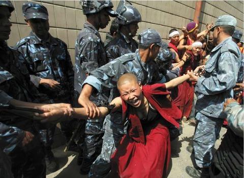 チベット反中国デモ