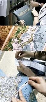 図書館の地図にシール1