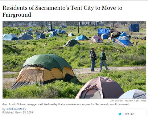 sacramento tent city