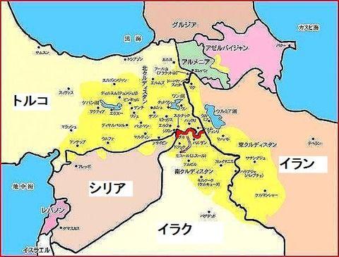 クルド人分布