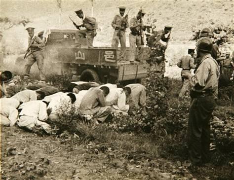 保導連盟事件韓国軍と処刑を待つ人