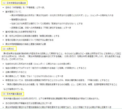 内閣男女共同参画局連合北京JAC日弁連