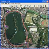 GoogleEarth 大濠公園