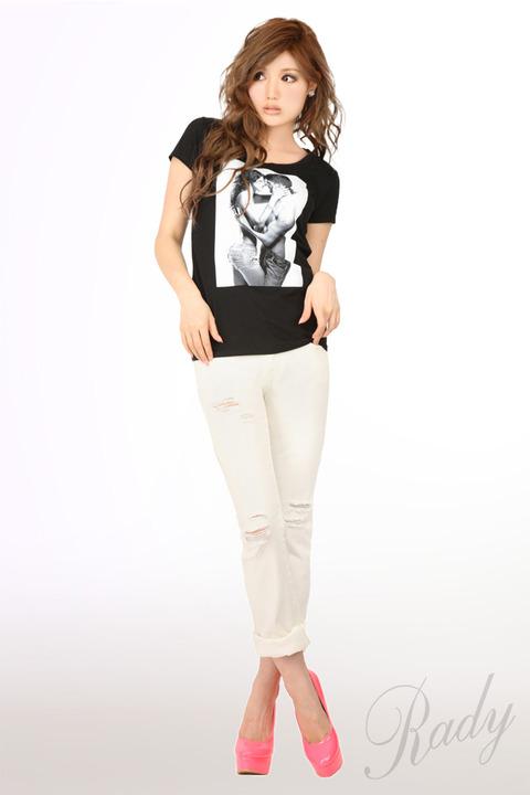 レディ通販 コンフェッション プリントTシャツ ブラック