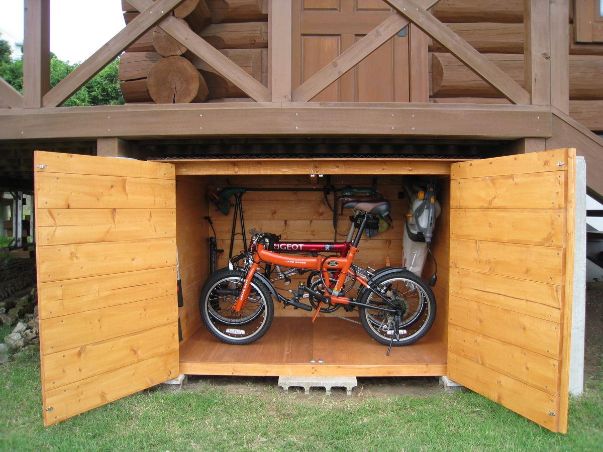 自転車の 物置 自転車収納 diy : 自転車2台が収納できる物置 ...