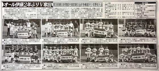日刊スポーツ掲載記事20190831