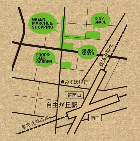 自由が丘GREEN MARCHE_MAP