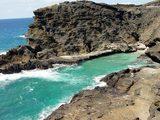 潮吹き岩付近