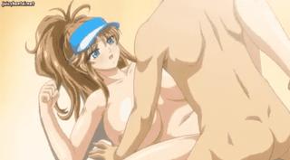 エロアニメ 公衆の面前で公開SEXするポニーテール巨乳美少女