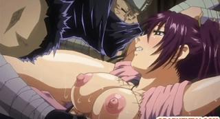 エロアニメ 敵の忍者に口、アナル、マ○コを同時レイプされ覚醒して淫乱になる巨乳クノイチ