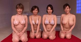 仁科百華&前田優希&長澤あずさ&青空小夏 この爆乳ハーレムソープは行きたいよね