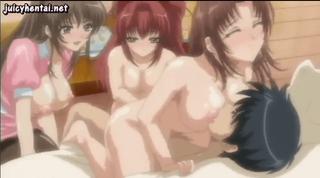 エロアニメ 次々と美少女たちが上に乗ってくるけどマグロなボク