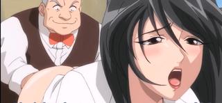 エロアニメ ハゲ学園長にアナルを犯されながら「もっと突いてください」と懇願してアナル中出しされる変態ドM女教師
