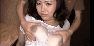ローション乳揉み着衣巨乳妻