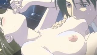 エロアニメ デカい屋敷のベランダで処女喪失するロリ美少女